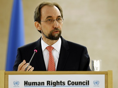 United Nations High Commissioner for Human Rights Zeid Ra'ad Al Hussein addresses the 31st session of the Human Rights Council. Reuters