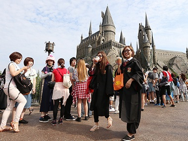 File photo of The Wizarding World of Harry Potter at the movie theme park Universal Studios Japan (USJ) in Osaka, western Japan. AFP