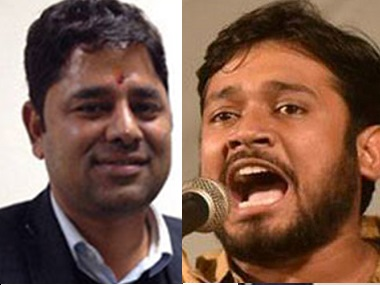 Vikram Chauhan and Kanhaiya Kumar. PTI and IBNLive
