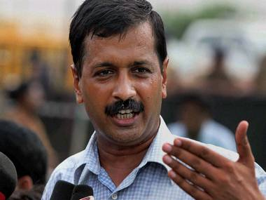 New Delhi: Arvind Kejriwal talking to media at Ramlila Ground in New Delhi on Tuesday. PTI Photo by Atul Yadav   (PTI8_23_2011_000101B)