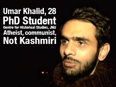An undated file image of Umar Khalid. Screen grab from YouTube