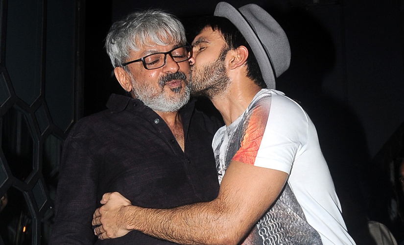 Bhansali with Ranveer Singh. Image by Sachin Gokhale/Firstpost