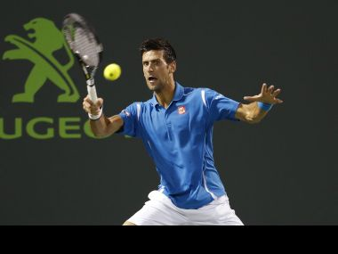 Djokovic at the Miami Open. Reuters