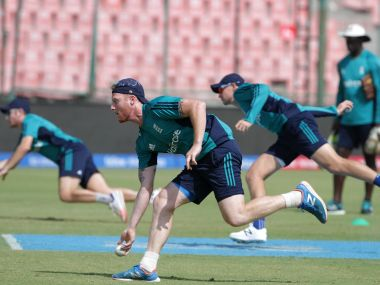 England player Ben Stokes during the practise session at the Feroz Shah Kotla Stadium. Solaris Images
