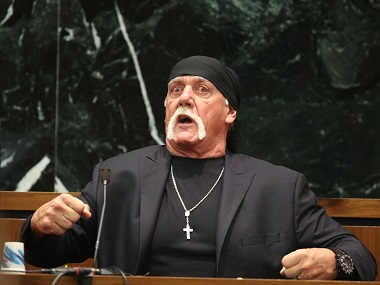 Terry 'Hulk Hogan' Bollea testifies in court on Tuesday. AP