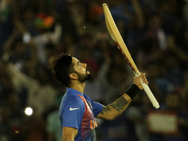 Virat Kohli after India's win against Australia in the WT20 clash in Mohali on Sunday. Solaris Images