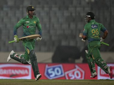 Some sensible batting from Umar Akmal and Shoaib Malik saved Pakistan. PTI