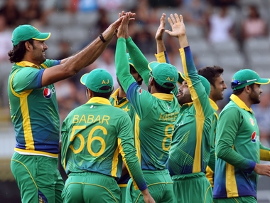 The Pakistan cricket team at the Asia Cup. AFP