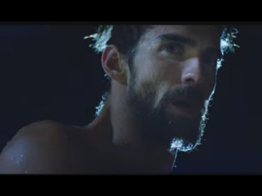 Michael Phelps in a screengrab from the video.