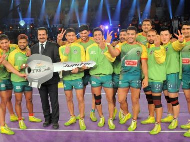 Patna Pirates players celebrate. Image: Pro Kabaddi