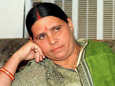 A file photo of Rabri Devi. AFP