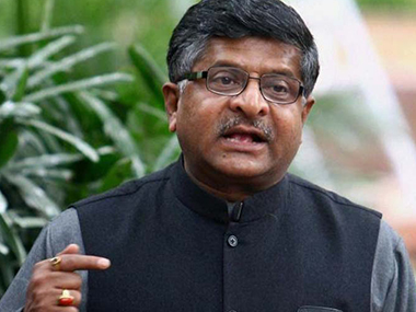 File photo of Ravi Shankar Prasad. PTI