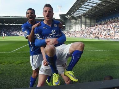 Leicester fans have expressed their enthusiasm in a seismic way. Getty