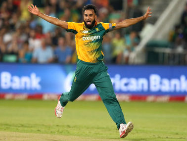 Imran Tahir could be a handful on subcontinent pitches. AFP