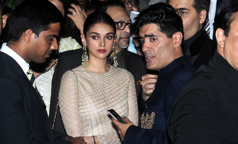 Aditi Rao Hydari and Manish Malhotra were among the celebrities invited to dine with the royal couple on Sunday evening. Image by Sachin Gokhale