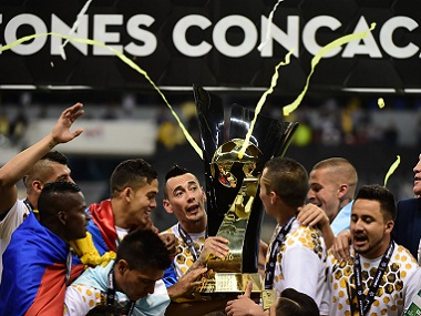 Mexico's Club America players celebrate their victory. AFP