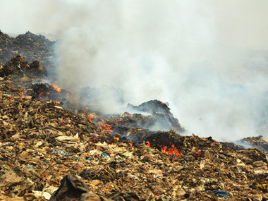 The fire that broke out at Deonar dumping ground. Solaris