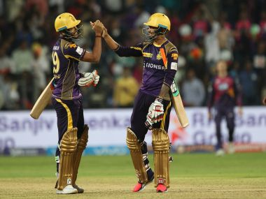 KKR players celebrate their win over RPS. BCCI