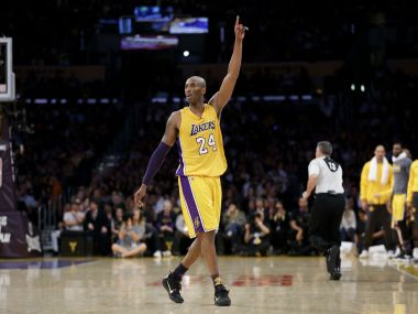 Los Angeles Lakers forward Kobe Bryant in his final game. AP