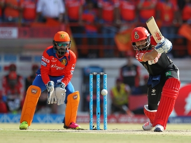 Virat Kohli in action during Gujarat Lions. BCCI