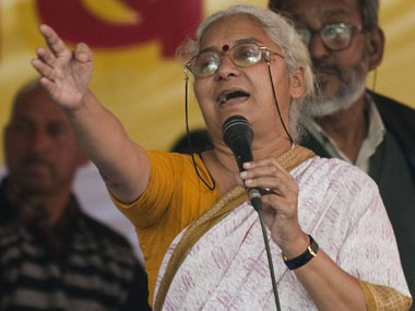 File photo of NBA leader Medha Patkar. AFP