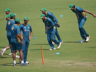 Pakistan team in training during the WorldT20. AFP
