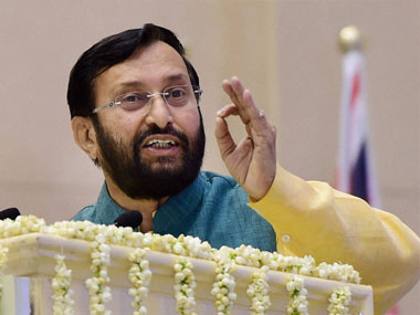 A file photo of Prakash Javadekar. PTI