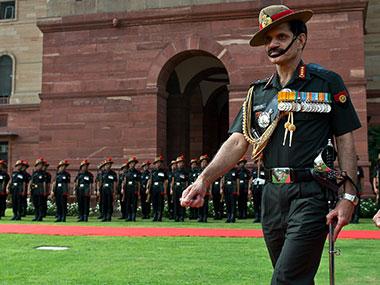 Indian Army chief Dalbir Singh Suhag. AFP