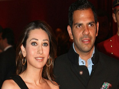 Karisma Kapoor with Sanjay Kapur. Image from IBNlive