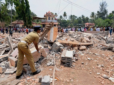 Kollam temple fire tragedy: Absconding fireworks contractor and his wife arrested