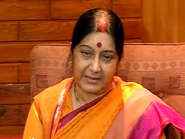 External Affairs Minister Sushma Swaraj. File photo. IBNLive