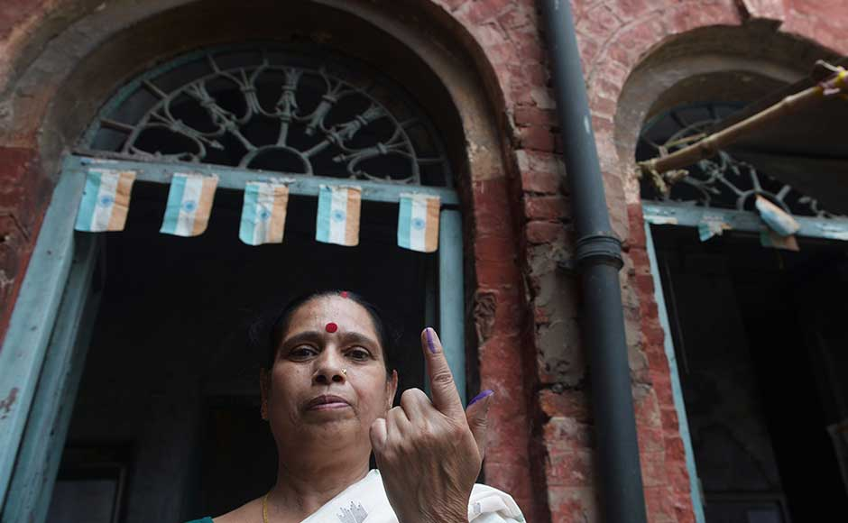 Phase three of West Bengal Assembly election saw a 79 percent voter turnout till 5 pm on Thursday. The turnout in Murshidabad was 79.29 percent, Nadia 81.62 percent, Burdwan 78.26 percent and Kolkata (North) 57.06 percent. AFP