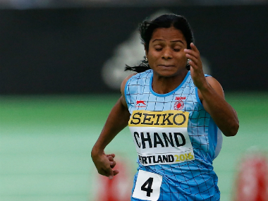 File photo of Odisha athlete Dutee Chand. Getty Images