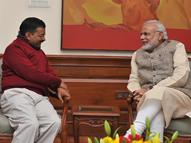 Arvind Kejriwal and Narendra Modi. File photo. PIB