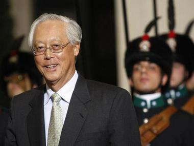 Singapore's Former PM Goh Chok Tong. File Photo. Reuters