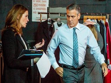 'Money Monster' review: George Clooney, Julia Roberts are the best thing about this half-baked film - Firstpost