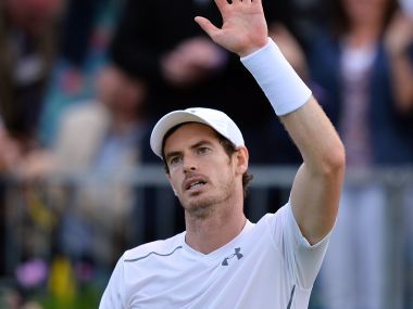 Andy Murray celebrates after beating France's Nicolas Mahut during the ATP Aegon Championships. AFP