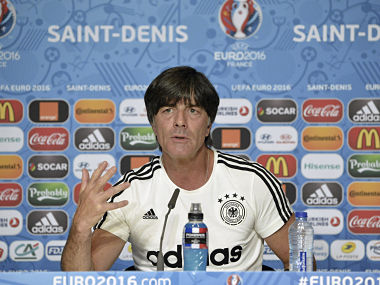 Joachim Loew ahead of the Germany-Poland tie. AFP
