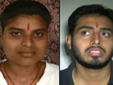 Bihar toppers Rubi Rai and Saurabh Sreshtha. News18