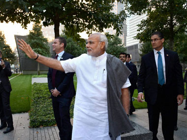 File photo of PM Modi during a visit to the US. PTI