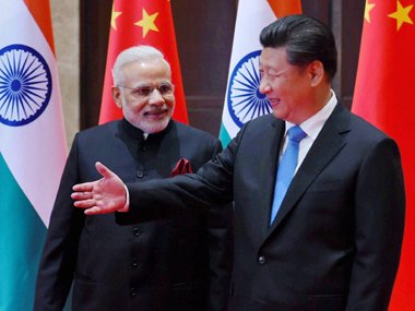 Prime Minister Narendra Modi and Chinese President Xi Jinping. File photo. PTI