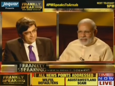 I'm humorous, but these days it comes at a cost: Narendra Modi tells Arnab Goswami