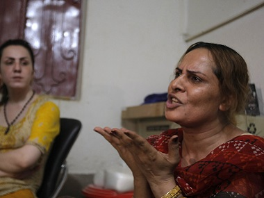 Farzana (right) recalls what happened to Alisha. AP