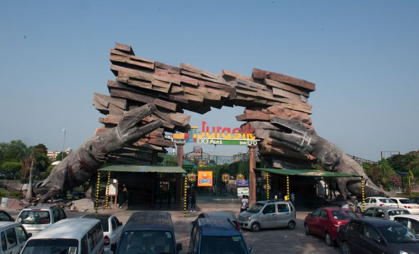 Jurasik Park fun resort opens up to public after it was damaged by rioters in February. Naresh Sharma