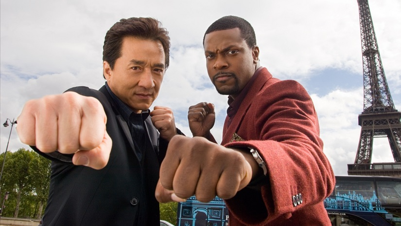 Jackie Chan and Chris Tucker in the hit 'Rush Hour' movie franchise