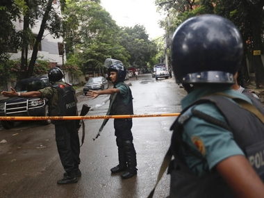 Two people were arrested in connection with the Dhaka attack. AP