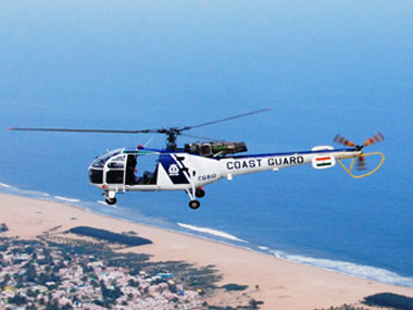 A Coast Guard helicopter. Image courtesy Coast Guard