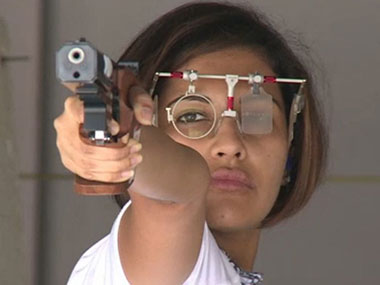 Indian shooter Heena Sidhu will look to bag a surprise medal in Women's 10m air pistol event.