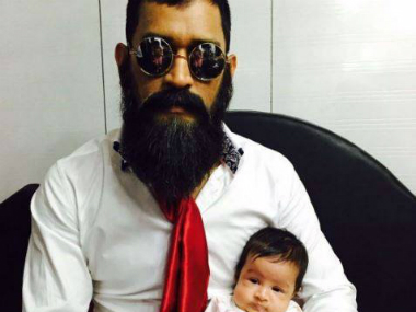 Check out MS Dhoni's adorable picture with daughter Ziva and an unrecognisable beard
