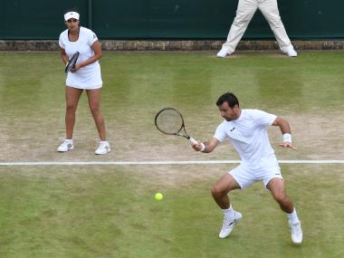 Sania Mirza and Ivan Dodig. AFP